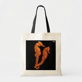 Dance Of The Seahorses (Orange) Tote Bag