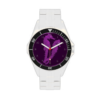 Dance Of The Seahorses Purple Wrist Watches