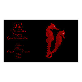 Dance Of The Seahorses (Red) Pack Of Standard Business Cards