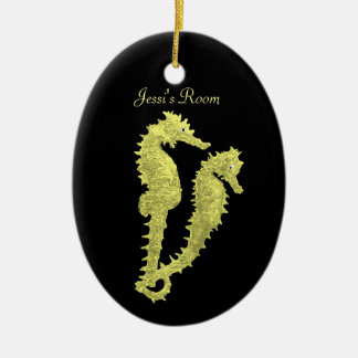 Dance Of The Seahorses (Yellow) (Door Hanger) Christmas Ornament