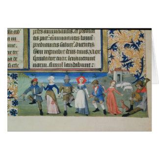 Dance of the shepherds card
