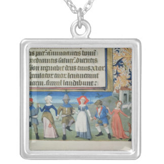 Dance of the shepherds silver plated necklace