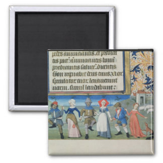 Dance of the shepherds square magnet