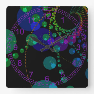 Dance of the Spheres II – Abstract Cosmic Indigo Wall Clocks