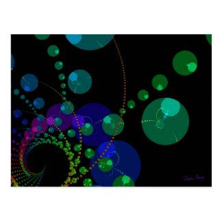 Dance of the Spheres II – Cosmic Violet & Teal Postcard