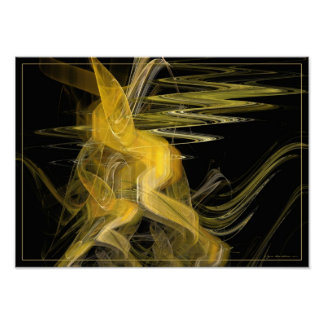 Dance of waves - fractal art print