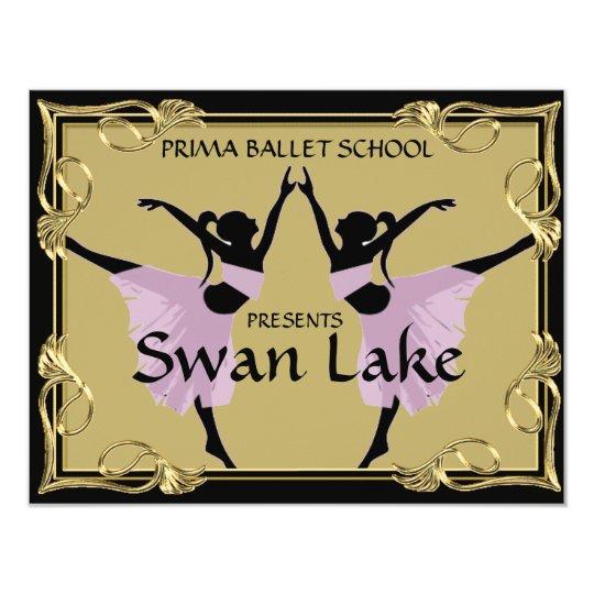 DANCE OR THEATRE PRODUCTION TICKET INVITATION