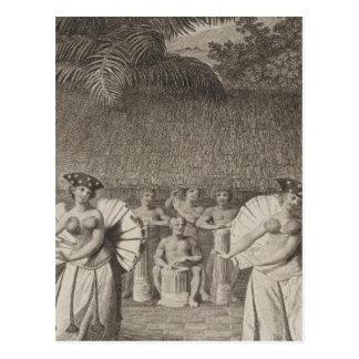 Dance, Otaheite, Tahiti Postcard