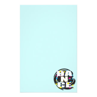 Dance Paint Blue Stationery