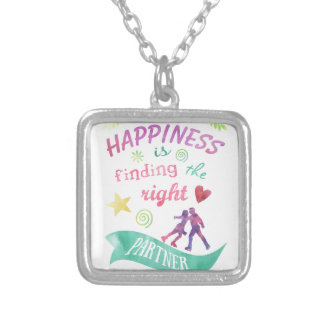 Dance Partner Ice Skate Design Silver Plated Necklace