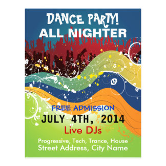Dance Party All Nighter Flyer