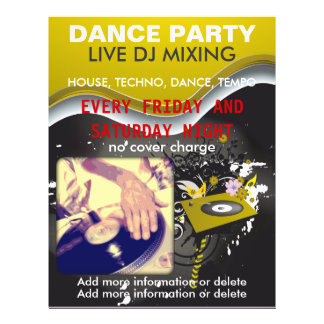 Dance Party DJ Turntable Flyer