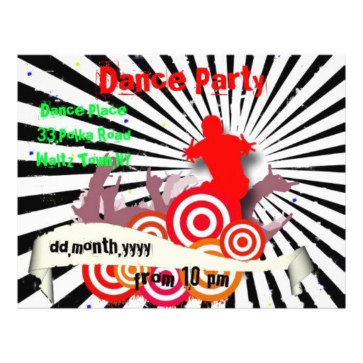 Dance Party Grunge Flyer