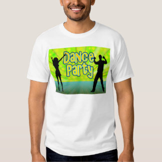 Dance Party, Neon Green/Black T Shirts