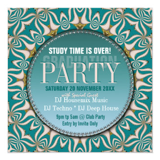 Dance Party Time Graduation Invitations