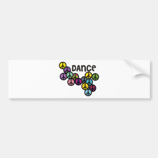 Dance Peace Signs Filled Bumper Stickers