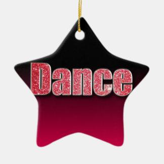 Dance Pink Glitter Ceramic Star Decoration