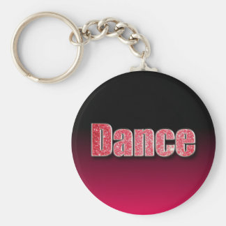 Dance Pink Glitter Key Ring