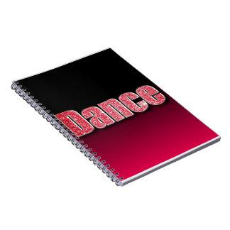 Dance Pink Glitter Spiral Notebook