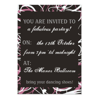 Dance Pink Swirly Card
