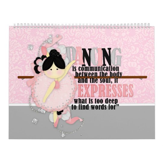 Dance quotes wall calendar