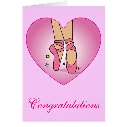 Dance Recital Congratulations Card