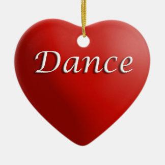 Dance Red Heart Keepsake Ornament