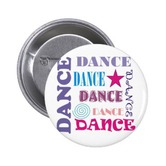 Dance Repeating Pinback Button