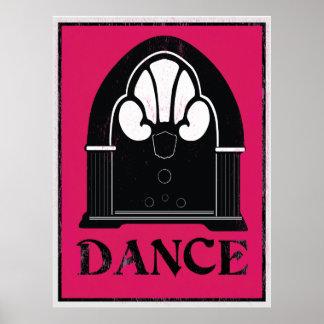 Dance: Retro Jukebox Art Poster