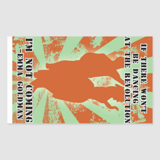 Dance revolution rectangular sticker