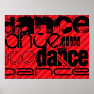 Dance; Scarlet Red Stripes Poster