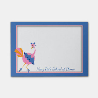 Dance School Ostrich Ballerina Post-it® Notes