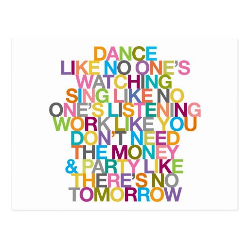 DANCE SING PARTY POST CARDS