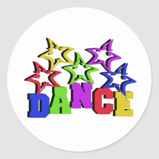 Dance Stars Classic Round Sticker