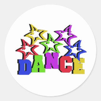 Dance Stars Round Sticker