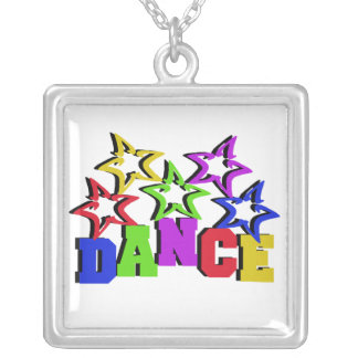 Dance Stars Silver Plated Necklace