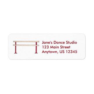 Dance Studio Ballet Ballerina Dancer Barre Labels
