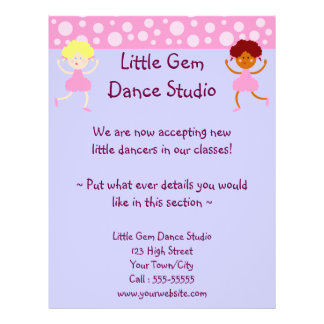 Dance Studio Business 21.5 Cm X 28 Cm Flyer