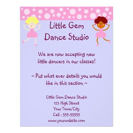 Dance Studio Business Custom Flyer