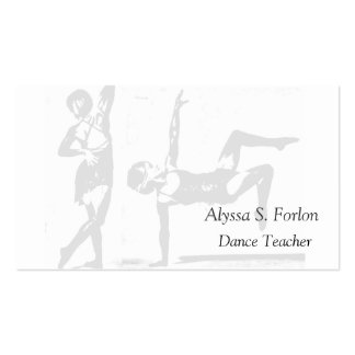 Dance Studio Personalized Buisness Cards Business Cards