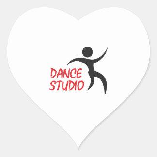 DANCE STUDIO HEART STICKER