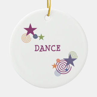 Dance Swirl Christmas Ornament