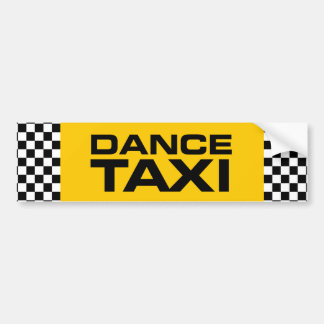 Dance Taxi Bumper Sticker