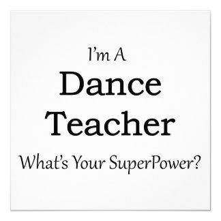 Dance Teacher 13 Cm X 13 Cm Square Invitation Card