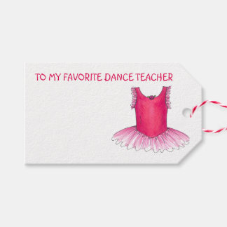 Dance Teacher Ballet Tutu Christmas Gift Tag