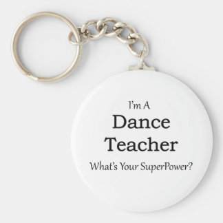 Dance Teacher Basic Round Button Key Ring