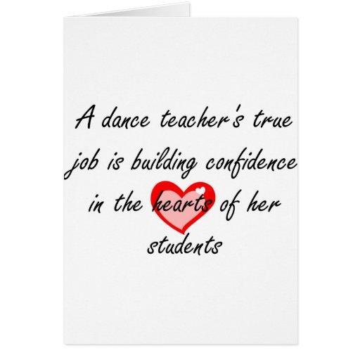 Dance Teacher - Building Confidence Card