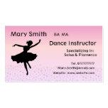 Dance Teacher / Dancing Instructor Business cards