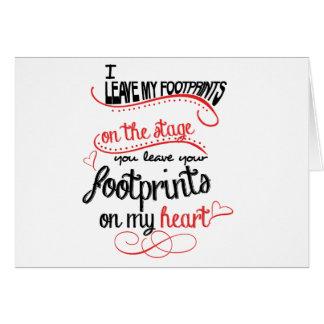 Dance Teacher - Footprints on the Heart Card