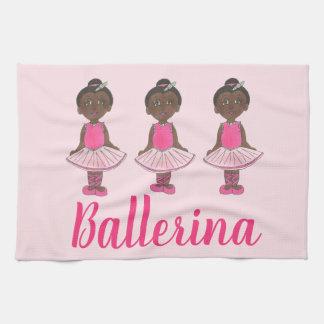 Dance Teacher Gift Pink Ballet Tutu Ballerina Tea Towel